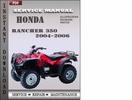 Thumbnail Honda Rancher 350 2004-2006 Service Repair Manual Download